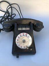 Téléphone ancien Bakélite à cadran noir vintage