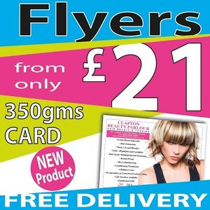 Flyers / Leaflets Full Colour Printed on 350gms Gloss Card A3,A4,A5,A6,A7 or DL