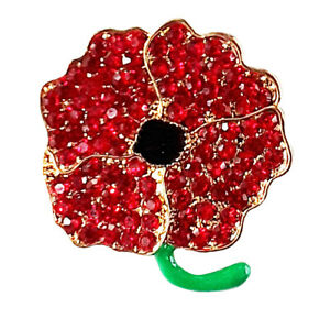 FLOWER RED POPPY. SPARKLY. FREE DELIVERY