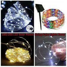 100/200 LED Solar Power Fairy Lights String Lamps Party Wedding Decor Outdoor