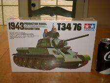 WW#2, T34/76 RUSSIAN TANK (1943 yr), TAMIYA - Plastic Model Kit, Scale: 1/35