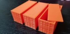 HO Scale 1CC 20' (ft) Shipping Container - Train Freight Car - Set of 3 - Znet3D