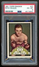 1951 Topps Ringside #27 Petey Scalzo PSA 6 EX-MT #45116642