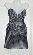 Womens size 10 grey & white strapless mini dress made by COOPER ST