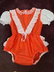 """Adult Baby Sissy  Waterproof rustly  Romper / Playsuit  up to 52"""" Chest"""