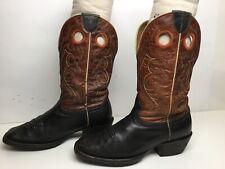 VTG WOMENS ARIAT SQUARE TOE BUCKAROO COWBOY BLACK BOOTS SIZE 7 B