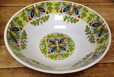 Cynthia Rowley New York Melamine Serving Bowl Large Medallion Floral Green Blue