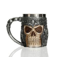 Ancient Nord Drinking Tankard Mug - Skull Helmet Cup Skyrim Elder Scrolls Beer