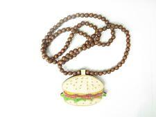 Good Wood Wooden Burger 84cm Necklace!