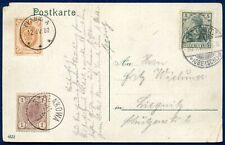 RUSSIA - POLAND: 1901 14 Kop. Postal Stationery Cover from Lodz to Germany