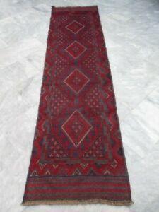 7176 - TRIBAL HAND KNOTTED MESHWANI RUNNER 240 x 63 cm
