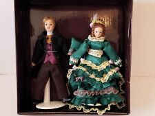 Victorian Trading Co. Dollhouse Dolls Victoria and Albert Porcelain RETIRED NIB