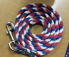 Nylon Poly Mini Horse Pony goat sheep dog Lead Rope Usa red white blue candy can