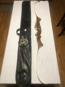 """Rare! Stunning Vintage Browning Challenge Recurve Archery Bow 70"""" 33# With Case"""
