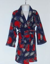 The Childrens Place Boys Fleece Wrap Football Robe Navy XS/4 NWT