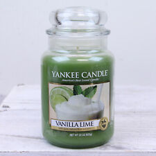 YANKEE CANDLE VANILLA LIME 22 OZ LARGE JAR NEW NEVER USED FRUIT FAST SHIPPING