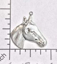 Charm Jewelry Finding Matte Silver Oxidized 40004 - 3 Pc. Horse Head