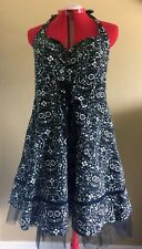 Book of Life Pin Up Dress by Torrid Plus Size 18 Black Day of the Dead Skulls