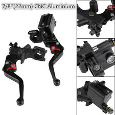 2PC CNC Aluminum Adjustable Motorcycle Brake&Clutch Master Cylinder Levers Black