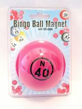 Bingo Chip Markers Bingo Ball Magnetic Pick-up Storage System Pink