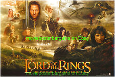 LORD OF THE RINGS FELLOWSHIP OF THE RINGS MOVIE POSTER Elijah Wood Autographed