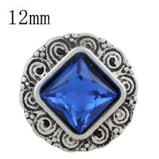 SMALL SNAP * BLUE STONE Snap 12mm Interchangeable Jewelry Fits Ginger Snaps