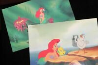 Walt Disney THE LITTLE MERMAID Lot of TWO Postcards LtdEd Animation Cel Promo