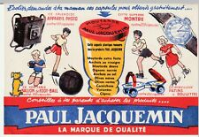 BUVARD ANCIEN - PAUL JACQUEMIN - MOUTARDE - APPAREIL PHOTO - montre- ballon.....