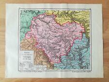 Oberamt Öhringen Bauser Hand-Atlas KARTE von 1885 Waldenburg Sailach Forchtenber