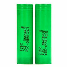 2x For Samsung ICR 18650 25R 20A 2500mAh Rechargeable Flat Top Mods 3.7V Battery