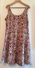 Dorothy Perkins Orange/pink/brown Animal Print Dress. Size 16. New No Tag.