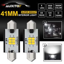 Error Free 41MM LED Car Interior Dome Map Marker License Plate Light Xenon White
