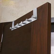 Bedroom Bathroom Kitchen Over Door 6 hook Clothe Coat Towel Hanger Rack US