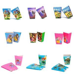 6Pcs Popcorn Box Kids Birthday Party Favour Sonic Spiderman Cocomelon TikTok UK