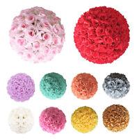 "5Pcs 6/8/10/12"" Silk Rose Pomander Flower Kissing Ball Wedding Party Venue Decor"