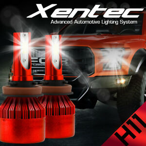 XENTEC LED HID Headlight kit H11 White for 2007-2015 Chevrolet Silverado 1500