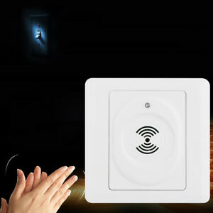 New Voice Control Light Sensor Lamp Switch Sound Activated Delay Smart Switches