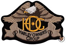 HOG HERITAGE EAGLE FULL COLOR PATCH 10-1/2 INCH HARLEY DAVIDSON OWNERS GROUP XL