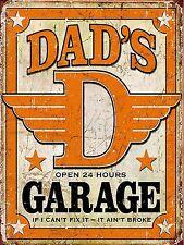 Dads Garage Metal Sign Man Cave Garage Shed Funny Gift workshop Mechanic