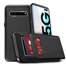 For Galaxy S10 Note10 Case Hard slim Shockproof 2Credit Card Holder Wallet Cover