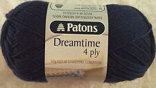 Patons Dreamtime Merino 4 Ply #0205 Navy Pure Wool 50g