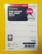 Filofax 20-68223 Pocket Kalendereinlage 2 Tage// 1 Seite 2020