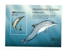 SPECIAL LOT Bhutan 1999 1223 - Prehistoric Dolphins - 50 Souvenir Sheets - MNH