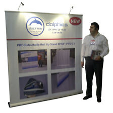 """PREMIUM 80"""" Retractable Banner Stands Roll Up Trade Show Display + CUSTOM PRINT"""