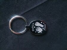 Personalised Engraved  Handprint / Footprint High Quality Oval Keyring