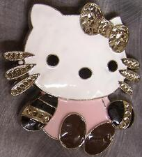 Pewter Belt Buckle Cartoon Hello Kitty NEW pink shirt