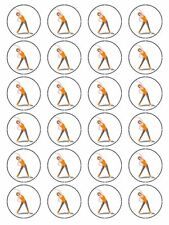 24 FITNESS EXERCISE / AEROBICS CUP CAKE TOPPERS DECORATIONS ON EDIBLE RICE PAPER