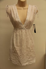 NWT Ralph Lauren Cover up Dress Size M White adj. shoulder