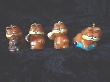 4 GARFIELD MINI CANDLES 1978-1981 NEVER USED