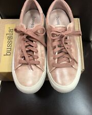 Bussola Clara Cardiff Blush Pink Leather Sneakers with Laces, Brand New, 40